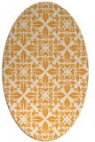 rug #206725 | oval white geometry rug