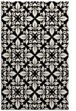 rug #206805    blue-green damask rug