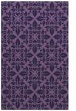 rug #206825 |  purple damask rug