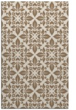 rug #206881 |  mid-brown damask rug