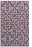 rug #206909 |  purple damask rug