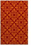rug #206917    orange damask rug