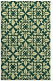 rug #206933 |  blue-green damask rug