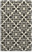 rug #207037 |  black geometry rug