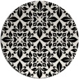 rug #207085 | round white traditional rug