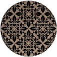 rug #207093 | round black traditional rug