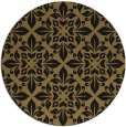 rug #207101 | round mid-brown damask rug