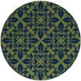 rug #207117 | round green damask rug