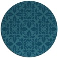 rug #207129 | round blue-green traditional rug