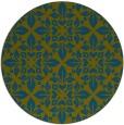 rug #207141 | round green damask rug