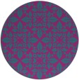 rug #207145 | round pink traditional rug