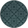 rug #207153 | round blue-green traditional rug