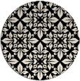 rug #207157 | round blue-green damask rug
