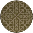 rug #207201 | round mid-brown damask rug