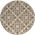 rug #207233 | round mid-brown damask rug