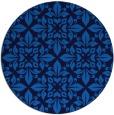 rug #207249 | round blue geometry rug