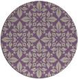 rug #207261 | round purple traditional rug
