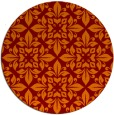 rug #207269 | round red-orange damask rug