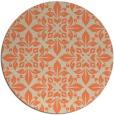 rug #207277 | round orange damask rug