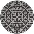 rug #207281 | round orange damask rug