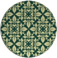 rug #207285 | round yellow traditional rug