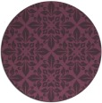 rug #207305 | round purple traditional rug