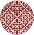 rug #207329 | round red damask rug