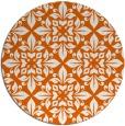 rug #207349   round red-orange damask rug