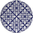 rug #207361 | round white traditional rug