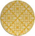rug #207369 | round yellow damask rug