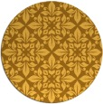 rug #207385 | round light-orange traditional rug