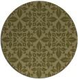 rug #207413 | round light-green damask rug