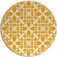 rug #207417 | round light-orange damask rug