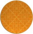 rug #207425 | round light-orange traditional rug