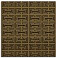 rug #207901 | square mid-brown rug