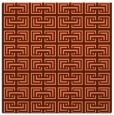 rug #207985 | square red-orange traditional rug