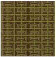 rug #208013 | square green traditional rug
