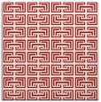 rug #208025 | square red traditional rug