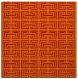 rug #208029 | square orange traditional rug