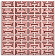 rug #208033 | square red traditional rug