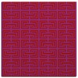 rug #208037 | square red traditional rug