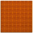 rug #208041 | square red-orange traditional rug