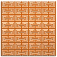 rug #208053 | square red-orange traditional rug