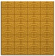 rug #208089 | square yellow rug