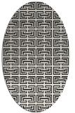 rug #208141 | oval white traditional rug