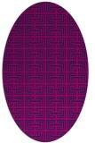 rug #208165 | oval pink traditional rug