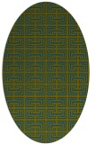 rug #208197 | oval blue-green rug