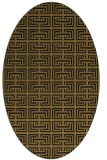 rug #208253 | oval black traditional rug