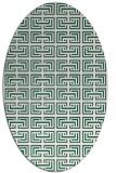 rug #208269 | oval green traditional rug