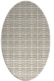 rug #208277 | oval white traditional rug